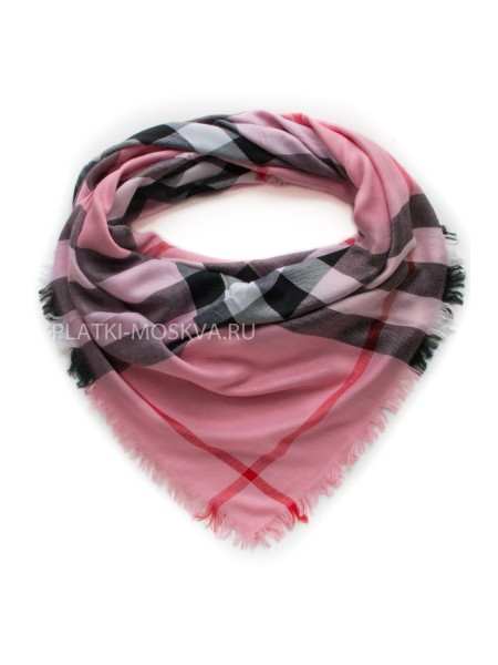 Платок Burberry ярко-розовый 409-2