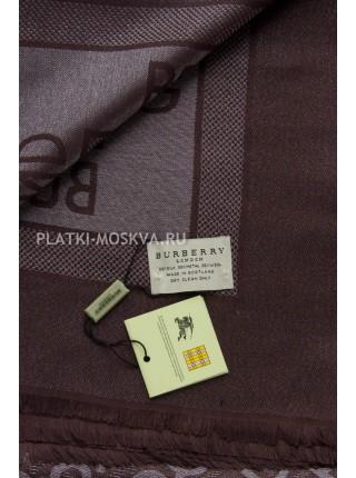 Платок Burberry коричневый с серебром 2301
