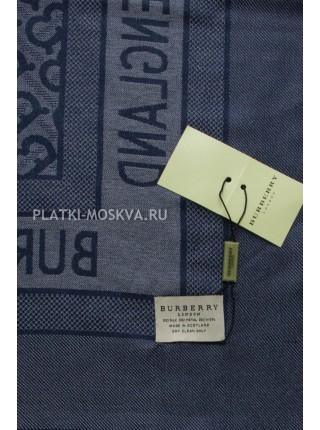 Платок Burberry синий с серебром 2303