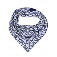 """Платок Dior шелковый белый с синим """"Monogram"""" 1872-90"""