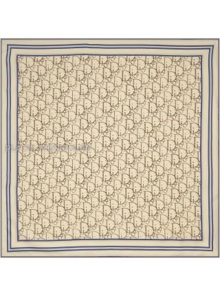"""Платок Dior шелковый бежевый """"Полоска"""" 1870-90"""