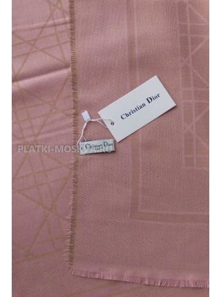 Платок Dior бледно-розовый с золотом 2241-100