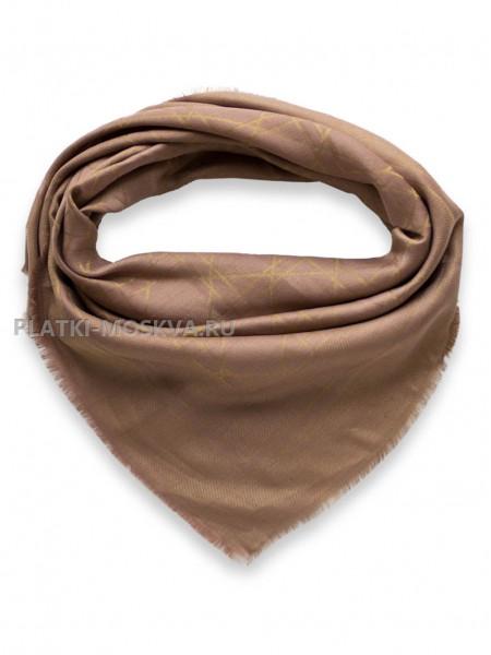 Платок Dior коричневый с золотом 2243-100