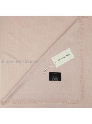 Платок Dior шерстяной бледно-розовый 521