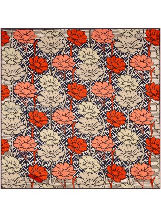 "Платок Fendi шелковый бежевый ""Flower"" 1861-90"