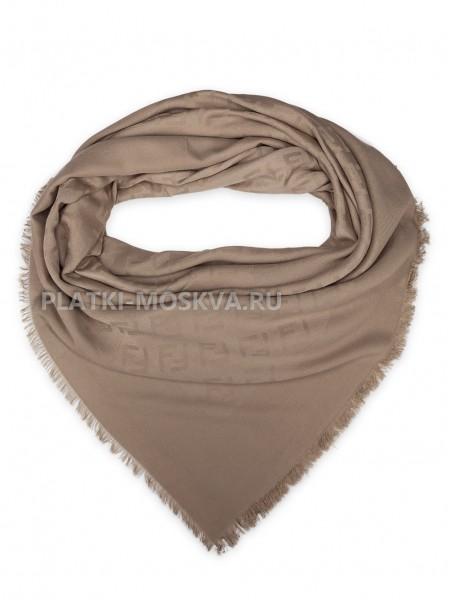 Платок Fendi шерстяной светло-коричневый 518-1