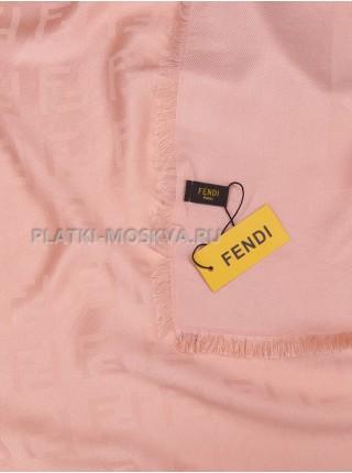 Платок Fendi шерстяной розовый 519-1