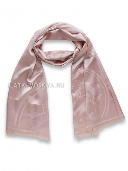 Палантин Hermes розовый 3045
