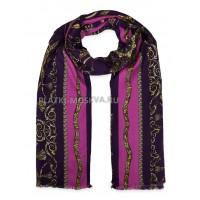 Палантин Hermes шерстяной темно-фиолетовый 366-3