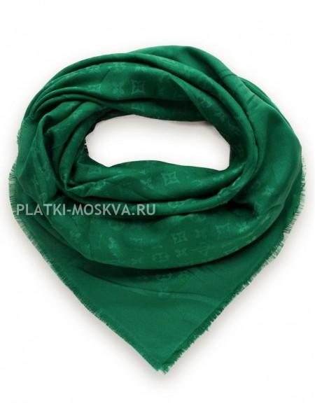 Платок брендовый зеленый лаймовый 1079