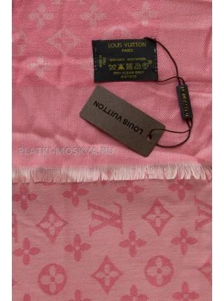 Платок брендовый кораллово-розовый 1064