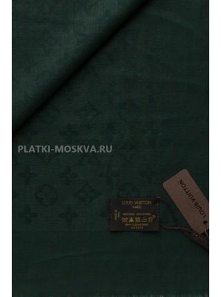 Платок брендовый темно-зеленый 1069