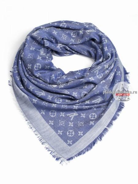 Платок брендовый светло-синий джинсовый 137
