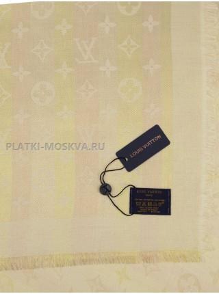 """Платок брендовый бежевый с золотом """"Хамелеон"""" 1091-140"""