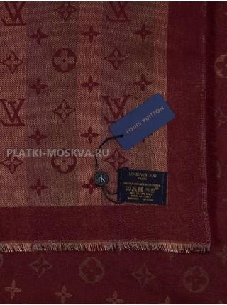 """Платок брендовый бордовый с золотом """"Хамелеон"""" 1090-100"""