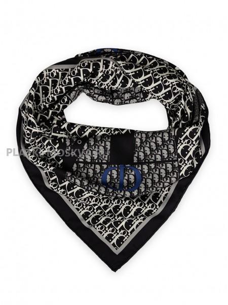 """Платок Dior шелковый черный с белым """"Monogram Bag"""" 1875-90"""