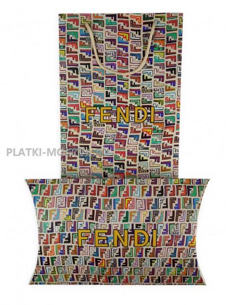 Подарочный конверт с пакетом Fendi бежевый