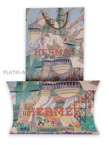 Подарочный конверт с пакетом Hermes бежевый