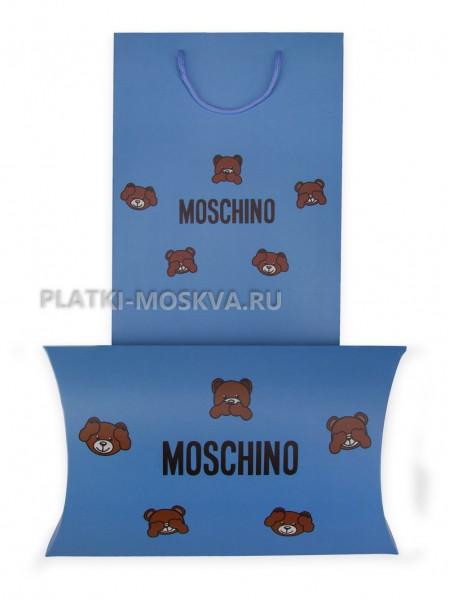 Подарочный конверт с пакетом Moschino синий