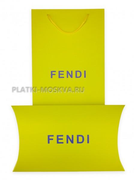 Подарочный конверт с пакетом Fendi желтый