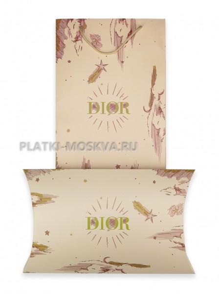 Подарочный конверт с пакетом Dior бежевый
