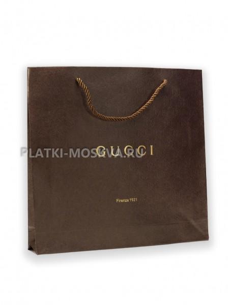 Фирменный пакет Gucci квадратный