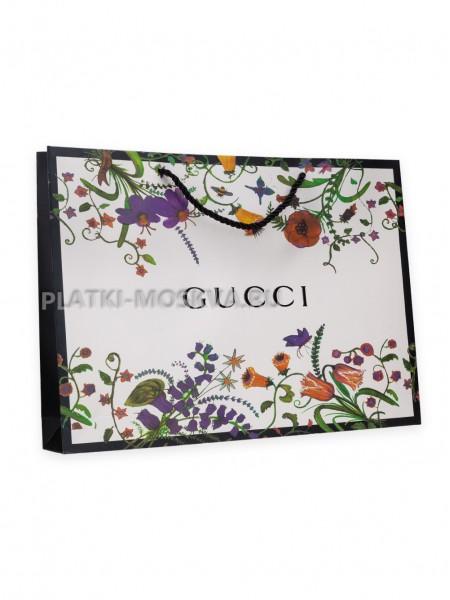 Фирменный пакет Gucci белый
