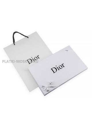 """Платок Dior шелковый бордовый с оранжевым """"Autumn Look"""" 1514-90"""