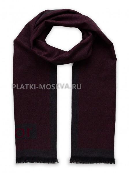 Шарф мужской Dior кашемировый серый с красным 3455