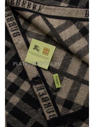 Шарф мужской Burberry кашемировый черный с бежевым 3462