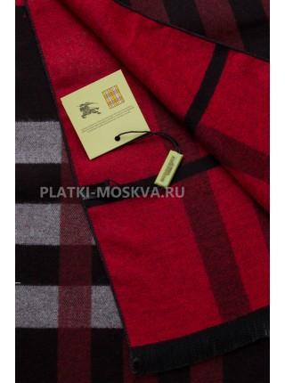 Шарф мужской Burberry кашемировый черный с красным в полоску 3465