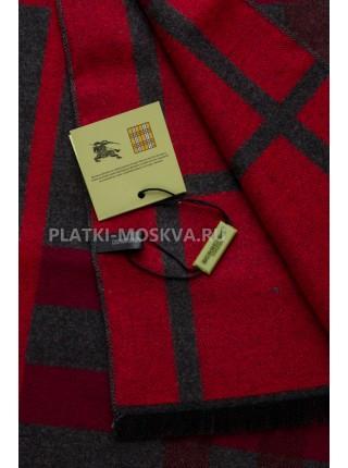 Шарф мужской Burberry кашемировый серый с красным в полоску 3464