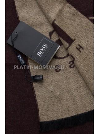 Шарф мужской Hugo Boss кашемировый коричневый 3457