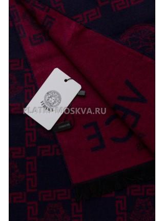 Шарф мужской Versace кашемировый синий с красным 3454