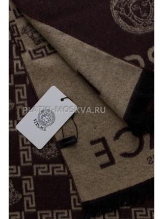 Шарф мужской Versace кашемировый коричневый 3451