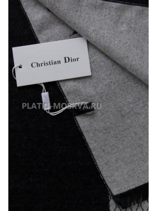 Шарф мужской Dior кашемировый черный с белым 3447-1