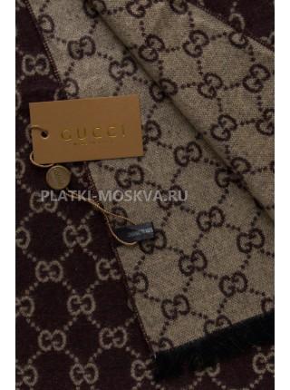 Шарф мужской Gucci кашемировый коричневый 3411-1
