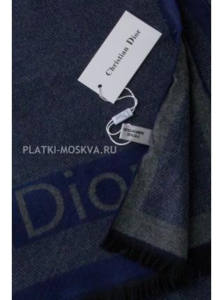 Шарф мужской Dior кашемировый синий 3444